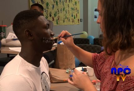 Picture of student getting a face paint